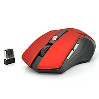 Мышь беспроводная MICE E-2310, 6 кнопок, 800/1200/1600 DPI, 2.4Ghz 10м, Win7/8/10 Mac OS, 2*AAA, Red, COLOR