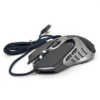 Мышь проводная MICE V5, 7 кнопок, 800/1200/2400/3200 DPI, Led Lighting, 1,3м, Win7/8/10 Mac OS, Black, COLOR