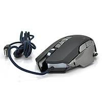 Мышь проводная MICE V9, 7 кнопок, 800/1200/2400/3200 DPI, Led Lighting, 1,3м, Win7/8/10 Mac OS, Black, COLOR