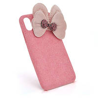 Накладка Пушистая Бантик iPhone 6/6s pink
