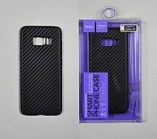 Hoco Чехол под карбон силиконовый Delicate shadow series protective case for Galaxy A7 (2017) black
