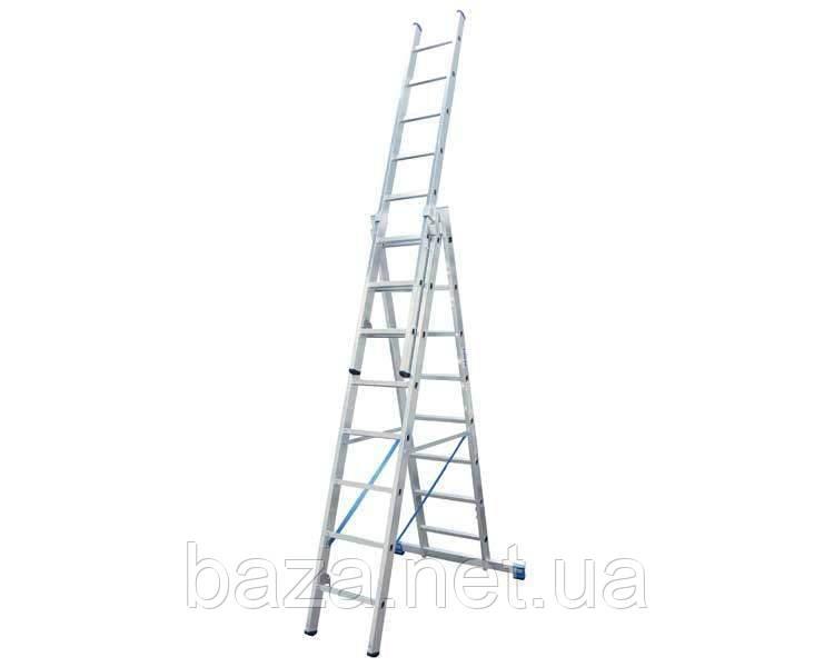 Трехсекционные лестницы KRAUSE Трехсекционная универсальная лестница KRAUSE Stabilo 3x8 ступеней