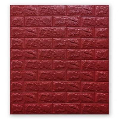 Мягкие 3D панели 700x770x7мм (самоклейка) Красный Кирпич