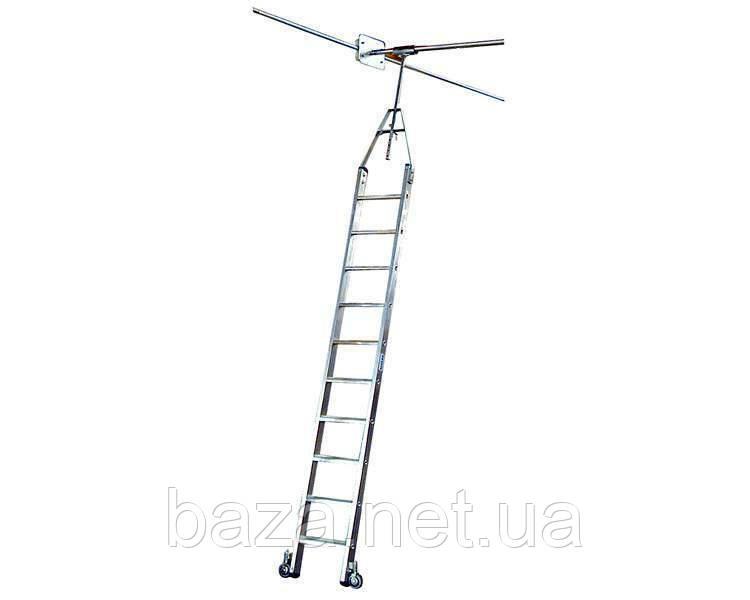 Лестницы для стеллажей KRAUSE Лестница для двухрядных стеллажей для круглой шины KRAUSE 5 ступеней