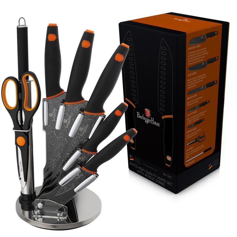 Набор ножей  Granit Diamond Line  black    8 предметов