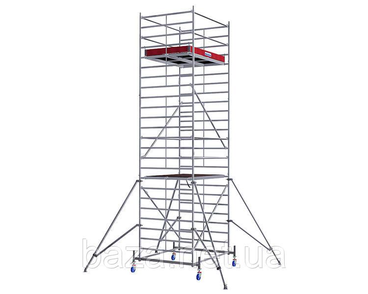 Алюминиевые вышки-туры KRAUSE Передвижная вышка-тура KRAUSE STABILO серия 50 (2,5x1,5 м) раб.высота 12,4 м