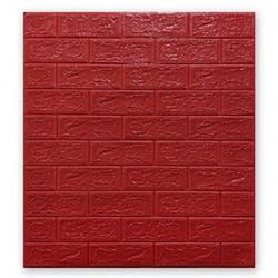 Мягкие 3D панели 700x770x5мм (самоклейка) Красный Кирпич
