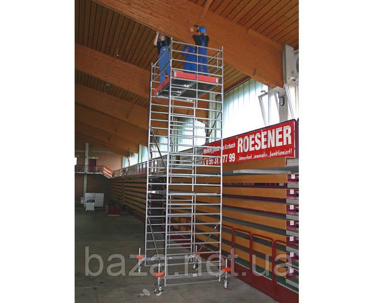 Алюминиевые вышки-туры KRAUSE Передвижная вышка-тура KRAUSE STABILO серия 500 (2,5x1,5 м) раб. высота 11,4 м