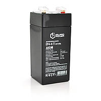 Акумуляторна батарея EUROPOWER AGM EP4-4M1 4 V 4 Ah ( 47 x 47 x  100 (105) )  Black Q30