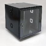 Шафа 12U, 600х700х640 мм (Ш*Г*В), акрилове скло, чорна