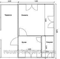 Будинок 4м х 6м