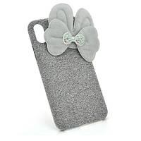 Накладка Пушистая Бантик iPhone 6 Plus/ 6s Plus gray