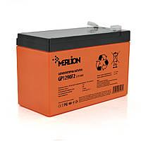Аккумуляторная батарея MERLION AGM GP1290F2 PREMIUM 12 V 9 Ah ( 150 x 65 x  95 (100) ) Orange Q10
