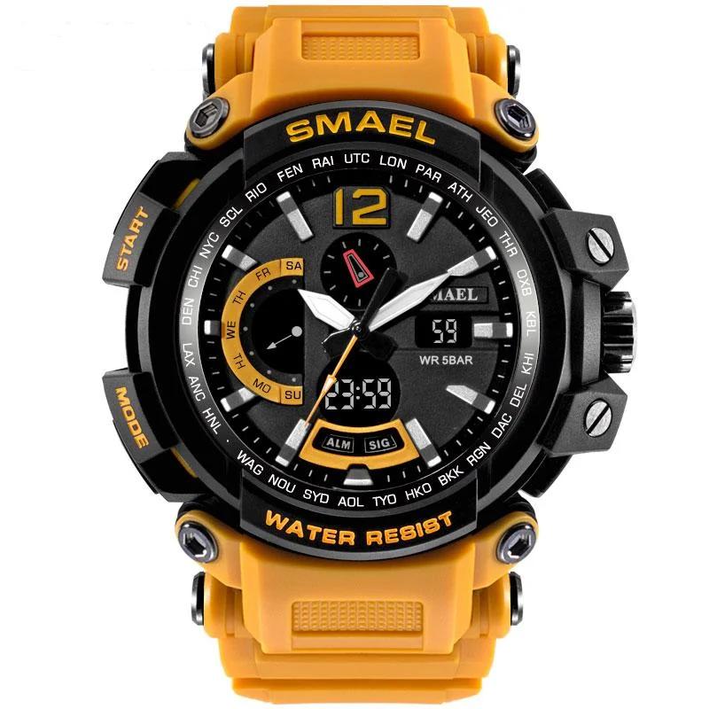 Мужские спортивные  часы Smael 1702 оранжевые