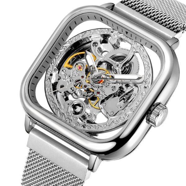 Forsining eagle II женские механические часы скелетон