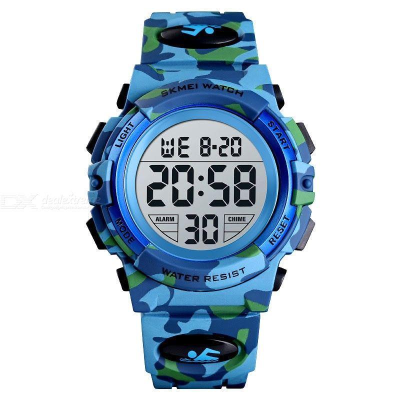 Skmei kids1548 светло синий камуфляж детские спортивные часы