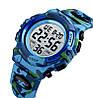 Skmei kids1548 светло синий камуфляж детские спортивные часы, фото 4