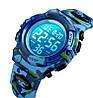 Skmei kids1548 светло синий камуфляж детские спортивные часы, фото 6