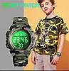 Детские спортивные часы Skmei 1548 kids зеленый камуфляж, фото 6