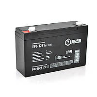 Аккумуляторная батарея EUROPOWER AGM EP6-12F1 6 V 12 Ah ( 150 x 50 x  95 (100) )  Black Q10