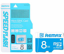 Карта памяти Remax Micro SD C6, Chip: Samsung, 8G, 0.5V, 7.34/21.3MByte/s, class6, Blue