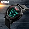 Skmei 1218 черные мужские спортивные часы, фото 3