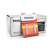 Батарейка щелочная Philips 1.5V AAA/LR03, 2pcs/card Q12