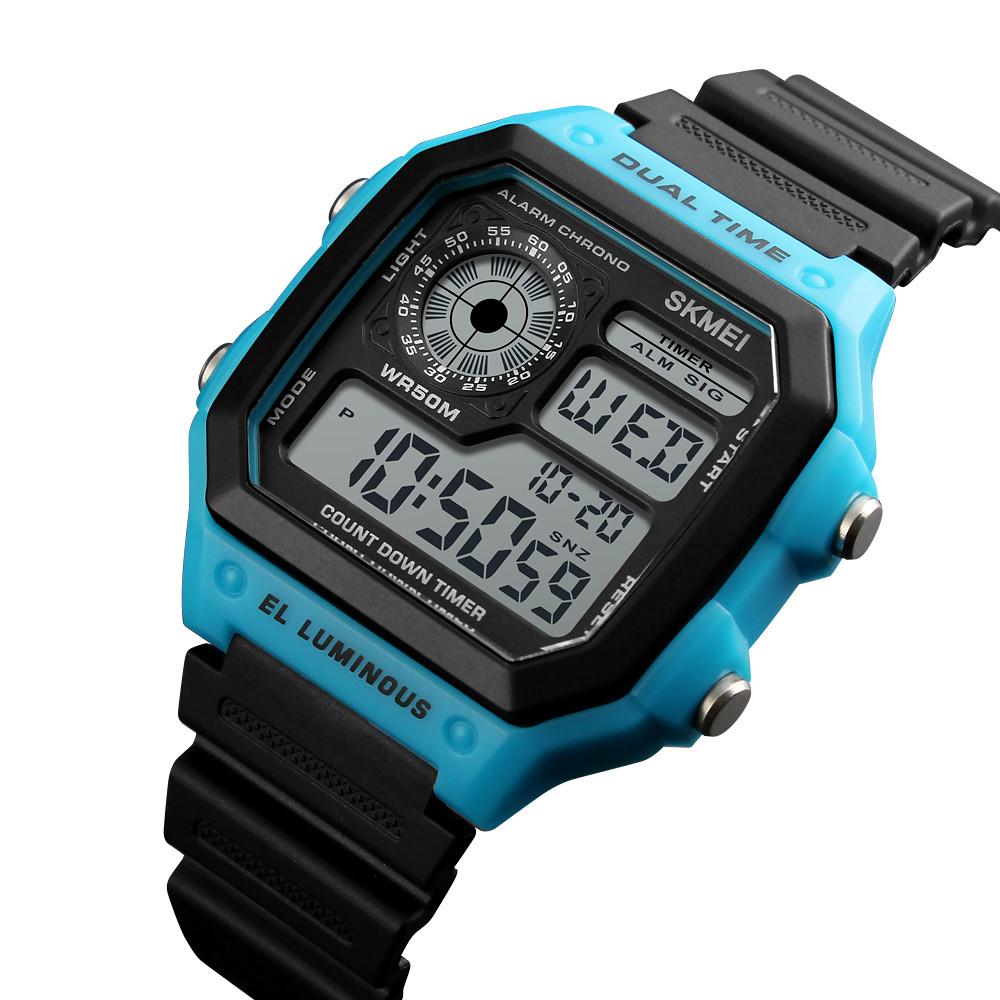 Мужские спортивные часы Skmei 1299 синие