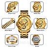 Мужские классические часы Skmei  9193 золотистые, фото 4
