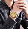 Мужские классические часы Skmei  9193 золотистые, фото 6