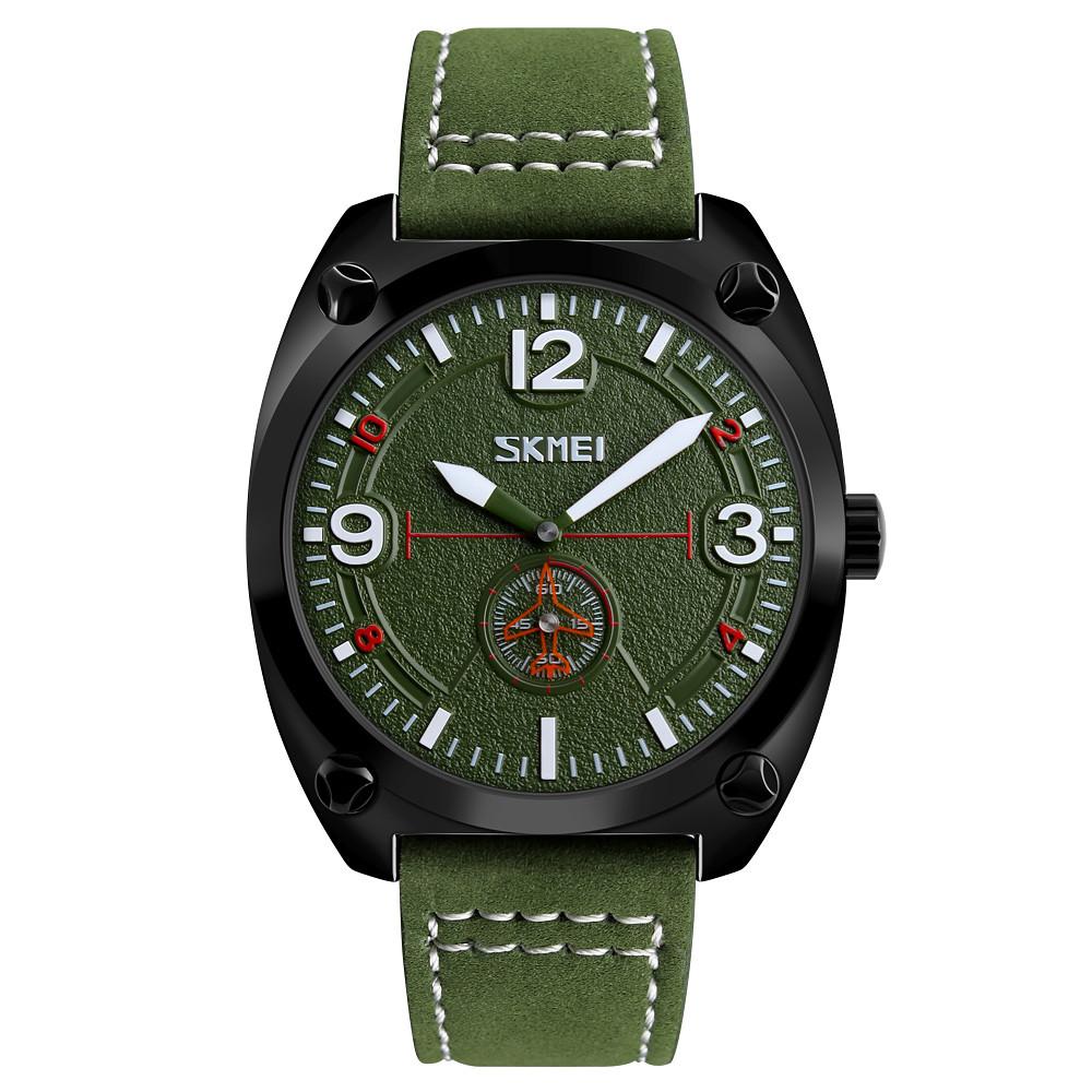 Skmei 9155 зеленые мужские классические часы