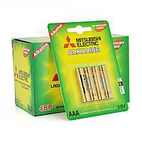 Батарейка щелочная MITSUBISHI 1.5V AAA/LR03, 4pcs/card, 48pcs/inner box, 576pcs/ctn