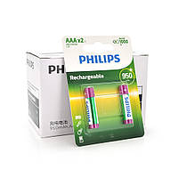 Аккумулятор Philips 1,2V Ni AAA 950-mAh Rechargeable Battery, 2 штуки в блистере, цена за блистер Q12