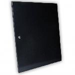 Двері суцільнометалеві 15U до шаф MGSWA, чорна
