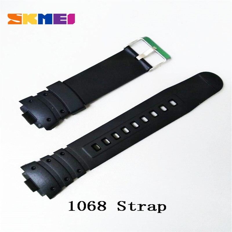 Ремешок на часы Skmei 1068 черный БЕЗ НАЛОЖКИ!