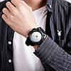 Мужские оригинальные часы Skmei 1521 черные, фото 10