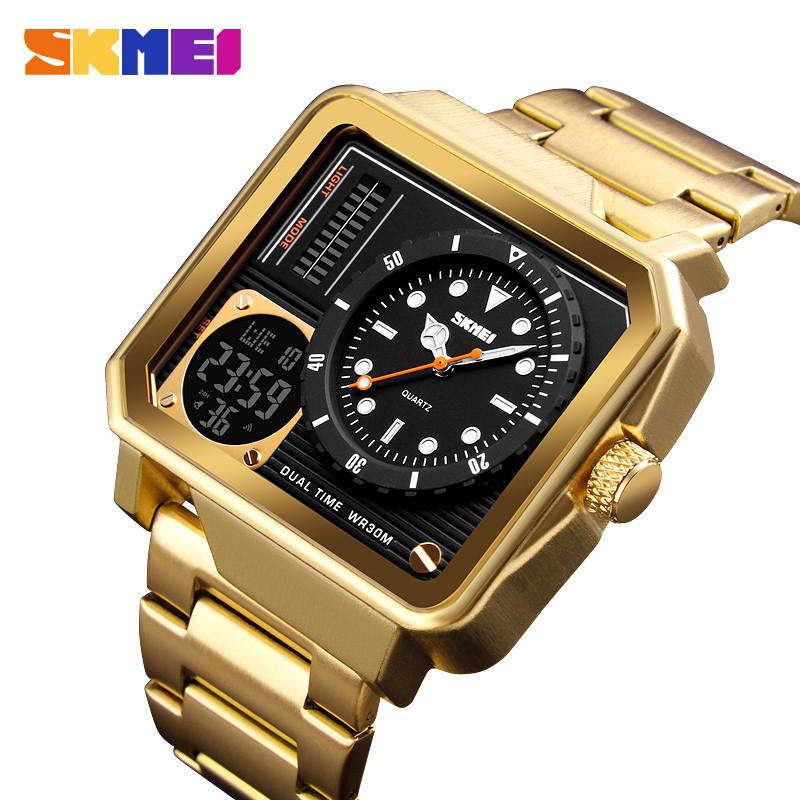 Мужские спортивные часы Skmei 1392 золотые