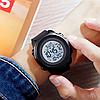 Мужские спортивные часыSkmei  1540 черные с белым циферблатом, фото 5
