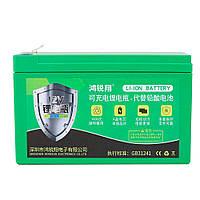 Аккумуляторная батарея литиевая 12 V 16A с элементами Li-ion 18650  (150X65X94)  вес 1095 грамм + зарядное