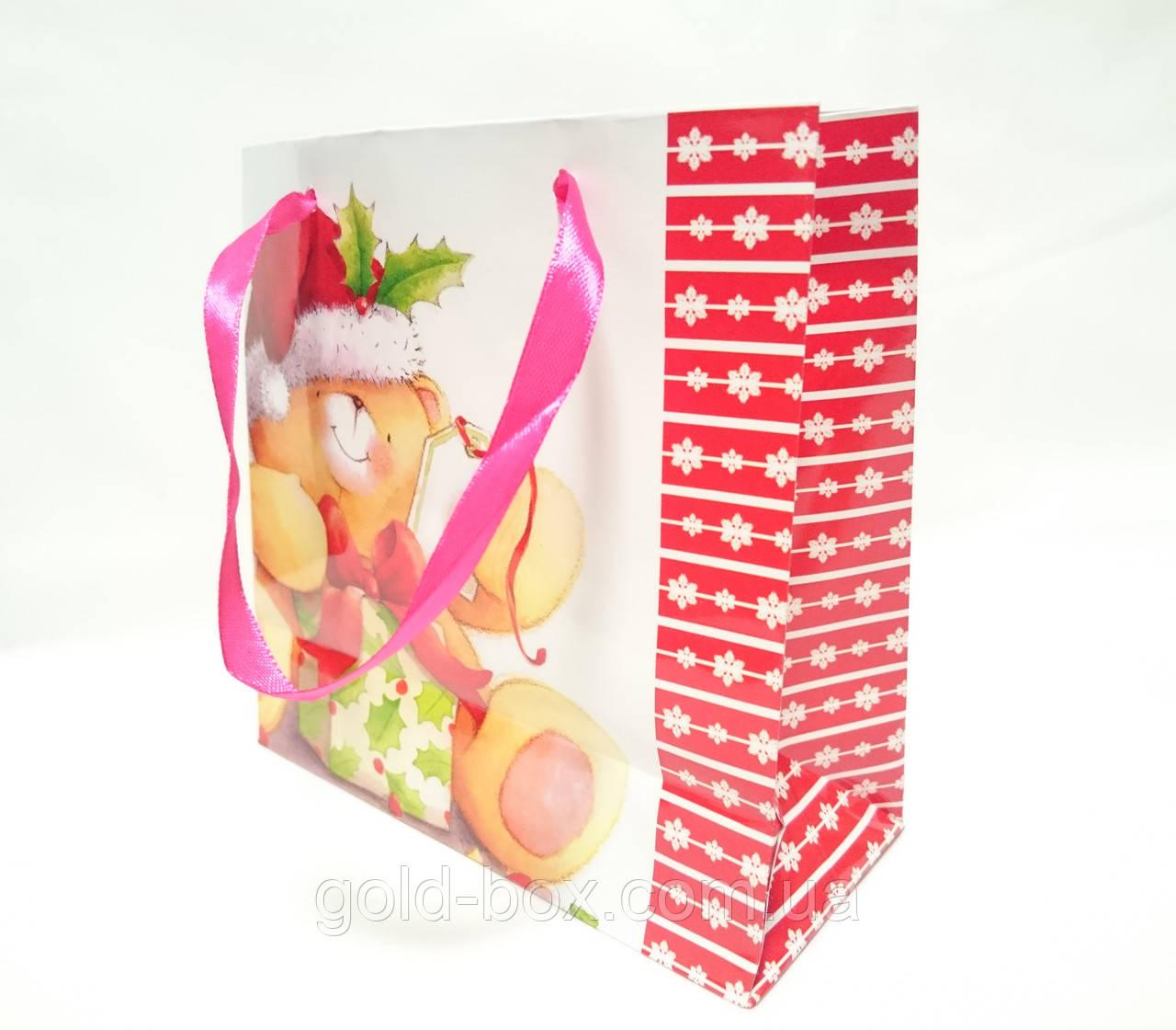 """Новорічний подарунковий пакет """"Ведмежа"""""""