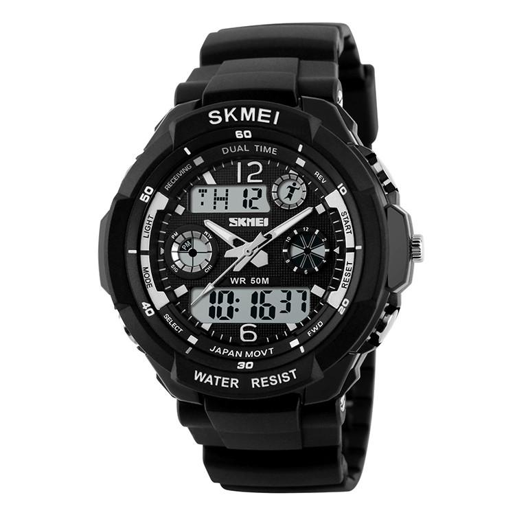 Детские спортивные часы Skmei 1060 s-shock  черные