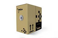 Кабель КНПт UTP (4*2*0.5) 4p 24 AWG, Merlion, (CCA), изоляция ПВХ+ПЭ, для нар. работ с тросом, 305м, Black,