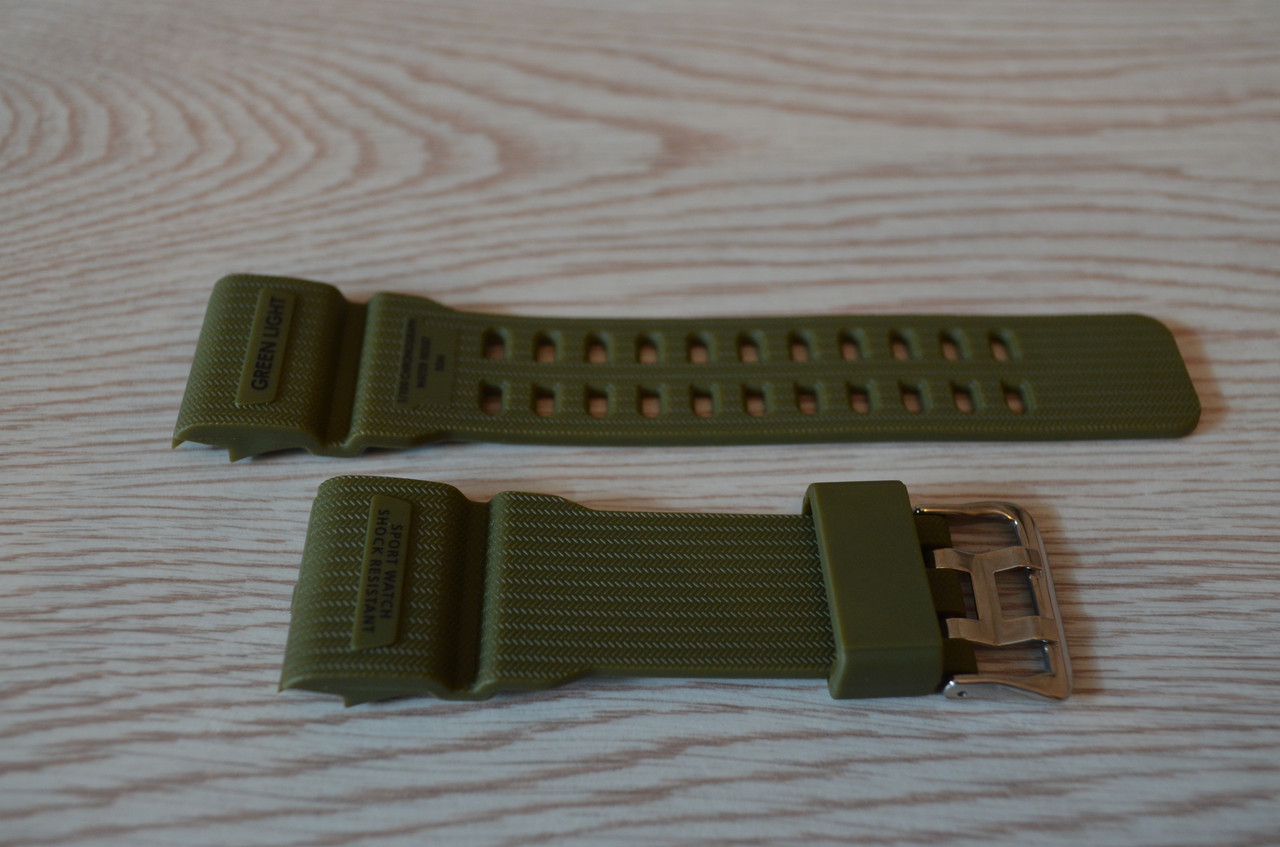 Ремешок на часы Skmei 1385 зеленый БЕЗ НАЛОЖКИ!