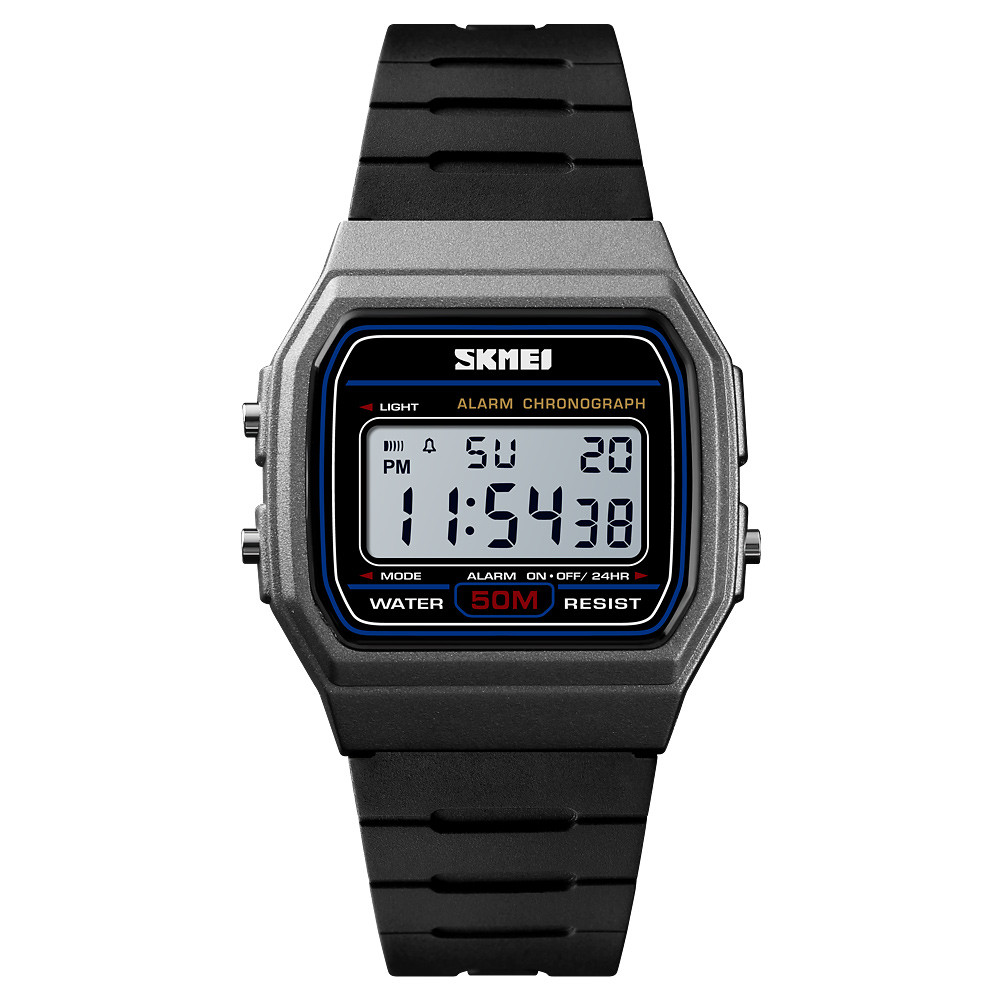 Skmei 1412 серые мужские спортивные часы