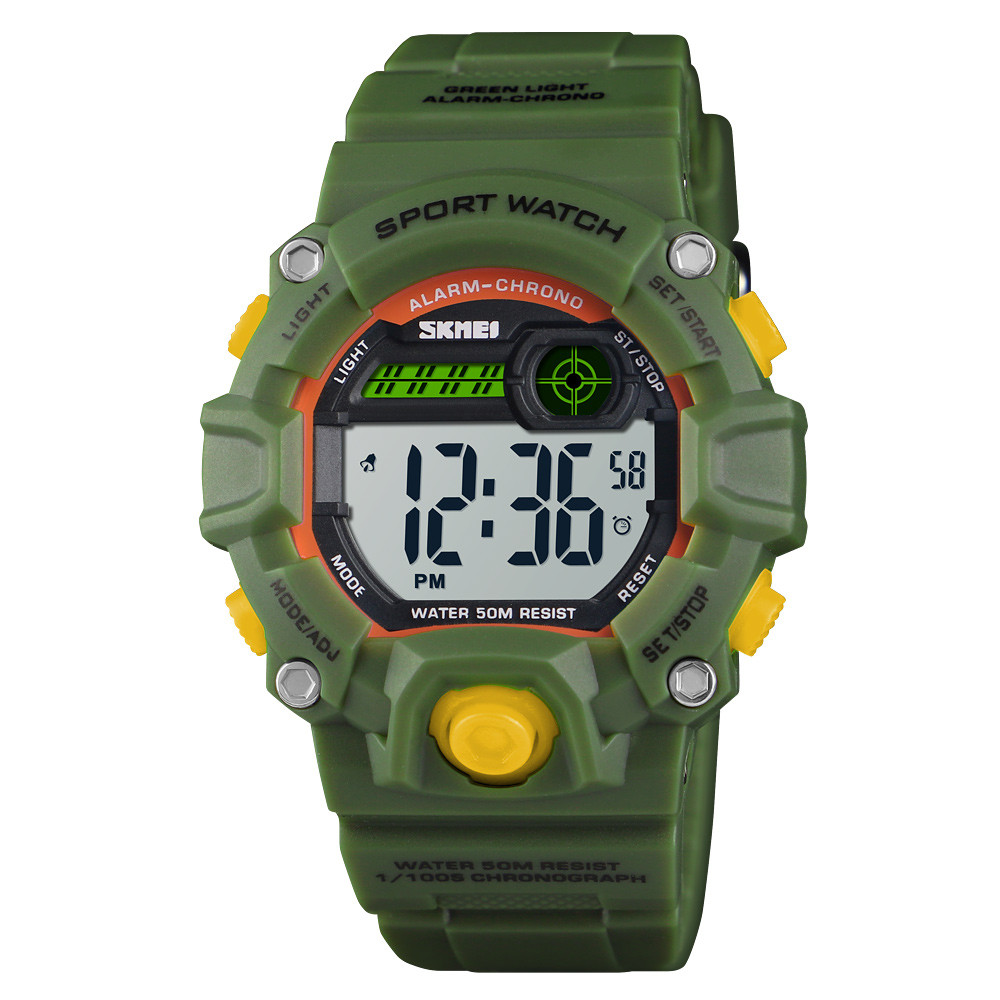 Skmei 1484 зеленые детские спортивные часы