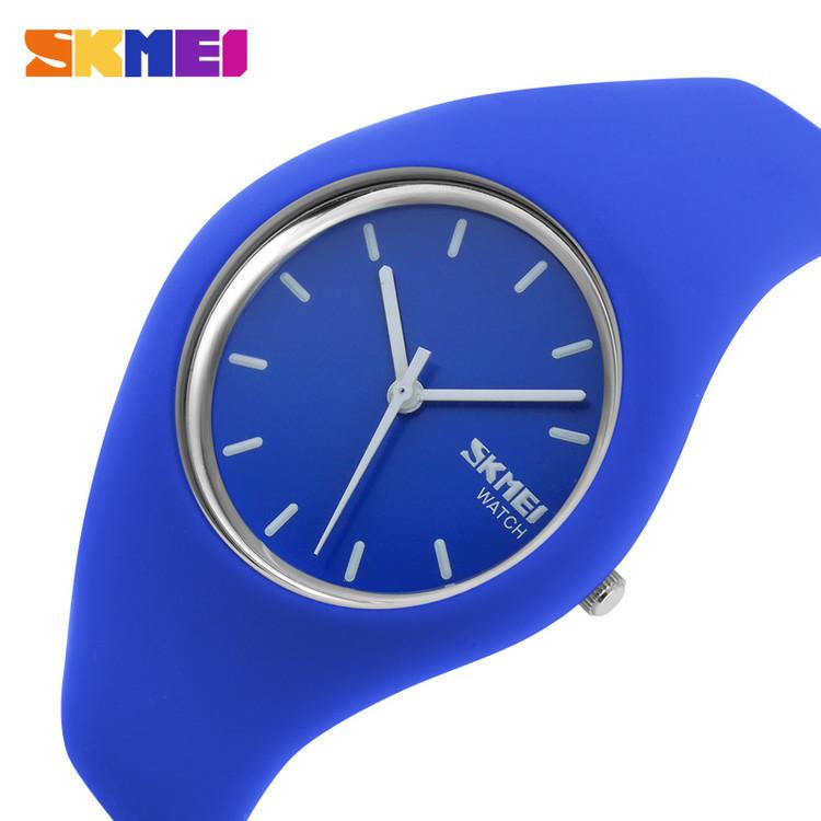 Женские часы Skmei 9068 rubber темно синие