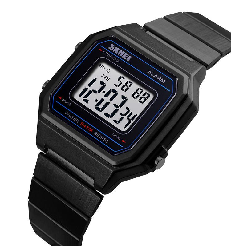 Наручные часы Skmei 1377 черные в ретро стиле