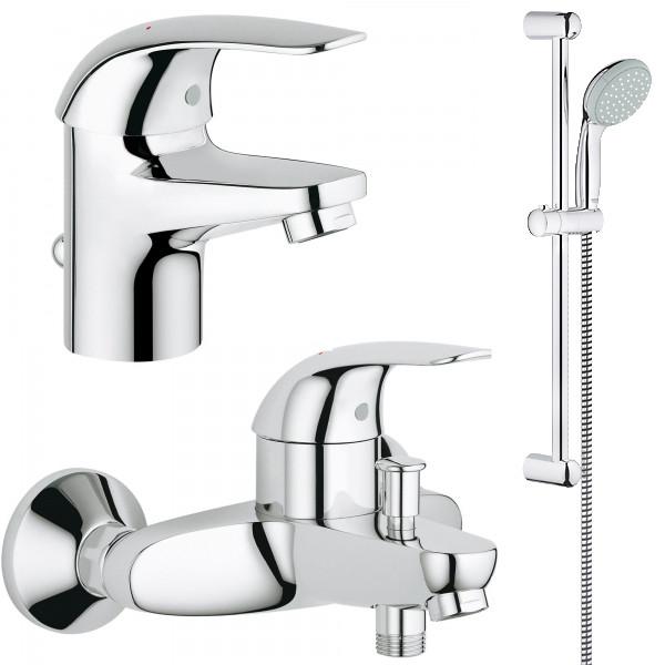 Набори змішувачів для ванни Grohe Набір для змішувачів для ванни Grohe Euroeco 123226S