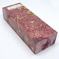 Стабилизированная древесина брусок Кап клена КРИЛАТ 130х45х30, фото 1