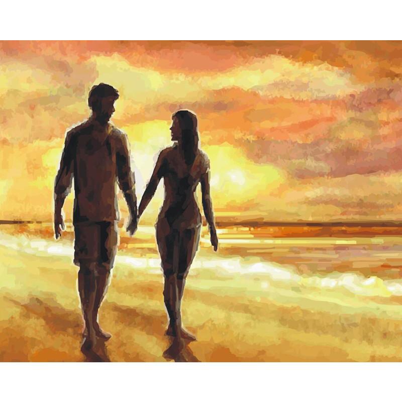 """Картина по номерам 40*50 см """"Романтическое свидание"""""""